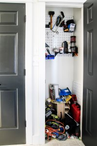 messy tool closet