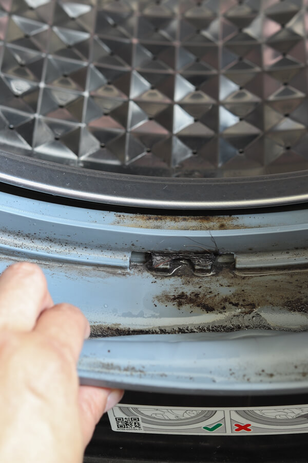 mildew inside of front load washing machine