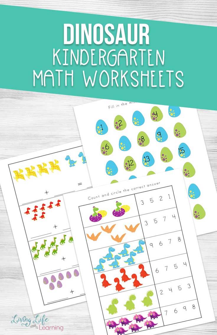 hight resolution of Dinosaur Kindergarten Math Worksheets