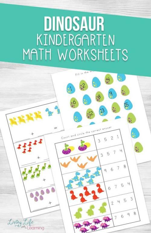 small resolution of Dinosaur Kindergarten Math Worksheets