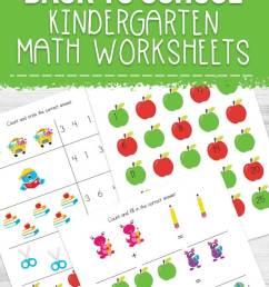 Back to School Kindergarten Math Worksheets [ 1135 x 735 Pixel ]