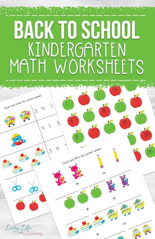 small resolution of Back to School Kindergarten Math Worksheets