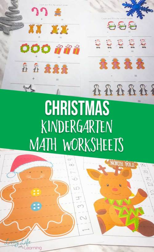 small resolution of Christmas Kindergarten Math Worksheets