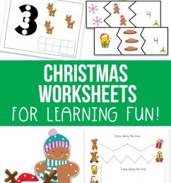 Free Christmas Worksheets for Kids [ 1290 x 700 Pixel ]