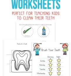 Dental Health Worksheets for Kids [ 1200 x 735 Pixel ]