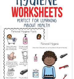 Personal Hygiene Worksheets for Kids [ 1200 x 735 Pixel ]