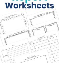 My Book Report Worksheets [ 1200 x 735 Pixel ]