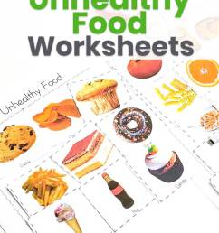 Healthy and Unhealthy Food Sorting Worksheet [ 1200 x 735 Pixel ]