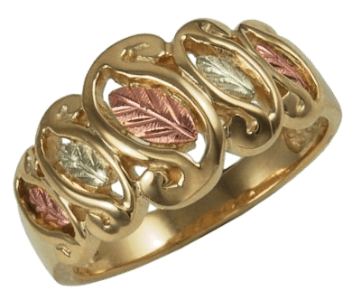 Womens Rings In 10k Yellow Gold 12k Rose And Green Gold