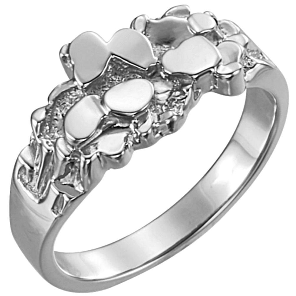 Gorgeous Men's 14k White Gold Dressy Rings