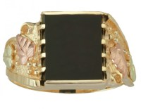 Men's Gemstone Black Hills Gold Bands - Boomer Style ...