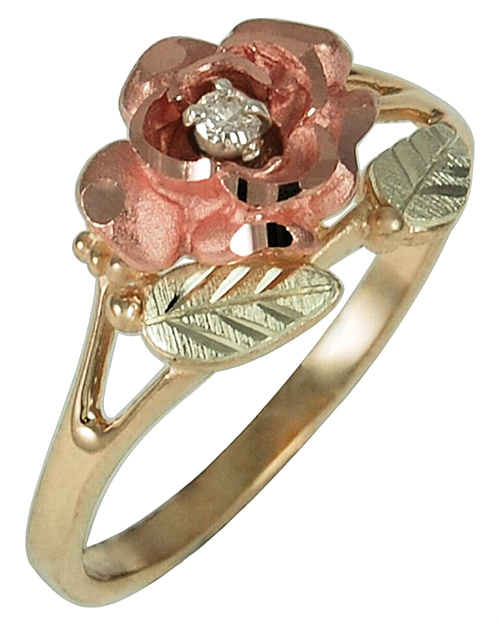 Diamond Rings in Black Hills Gold Motif
