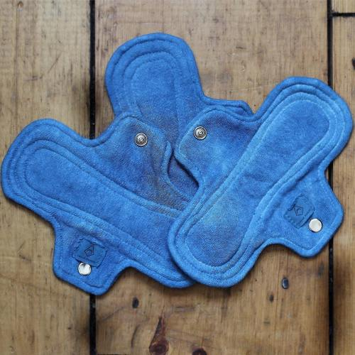 indigo dyed cloth moontime pads