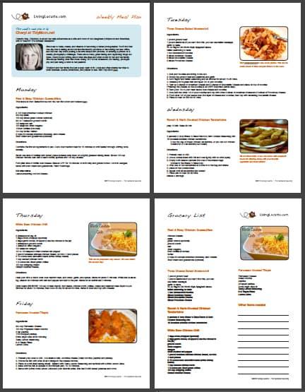 Week 16 - Free Printable Weekly Meal Plan - Living Locurto