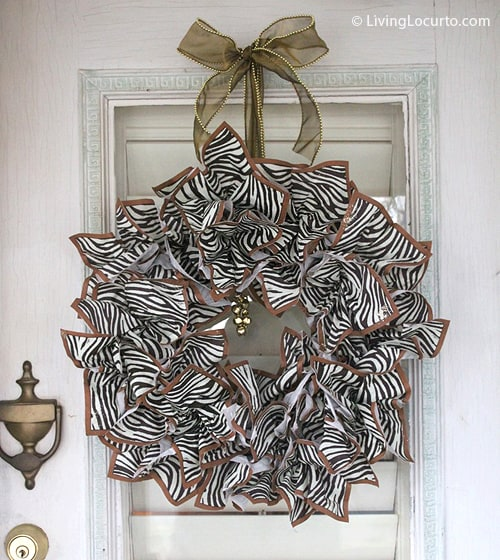 DIY Napkin Christmas Wreath