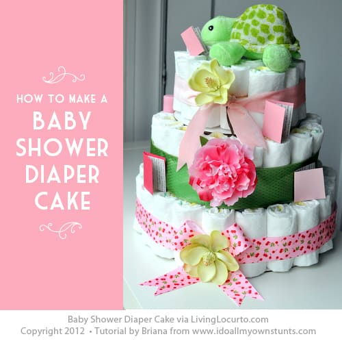 Baby Shower Diaper Cake Tutorial Living Locurto