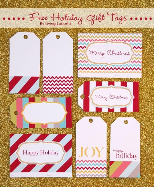 Christmas Holiday Free Printable Gift Tags by | Living Locurto