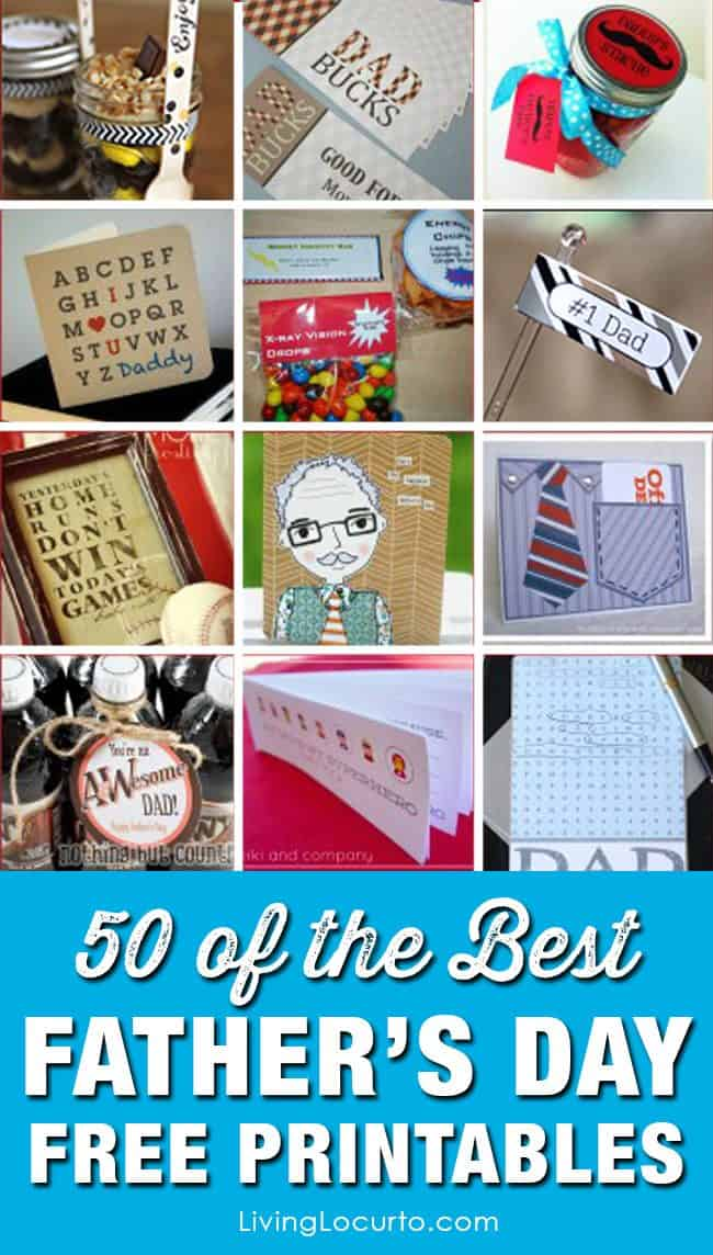 50 Fathers Day Free Printables Gift Ideas For Dad