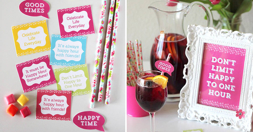 Happy Hour Party Ideas  Free Printables for a Girls Night Out