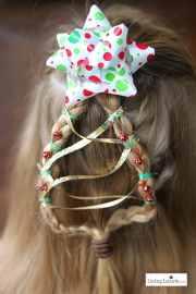 christmas tree braid - cute girls