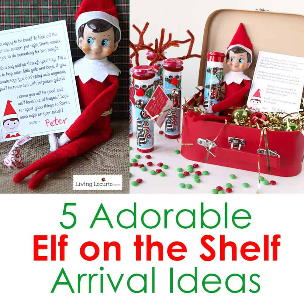 Creative Elf On The Shelf Arrival Ideas! Unique Printables And Cute