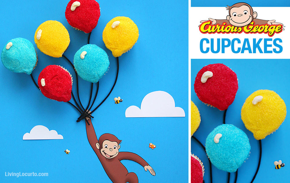 Curious George Balloon Cupcakes