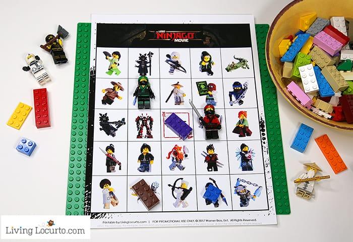 LEGO NINJAGO Bingo Free Printable LEGO Bingo Game