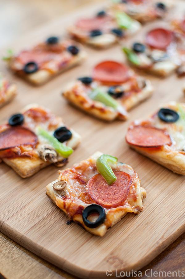 Резултат со слика за Puff pastry pizza bites