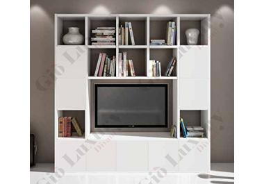 meuble tv bibliotheque