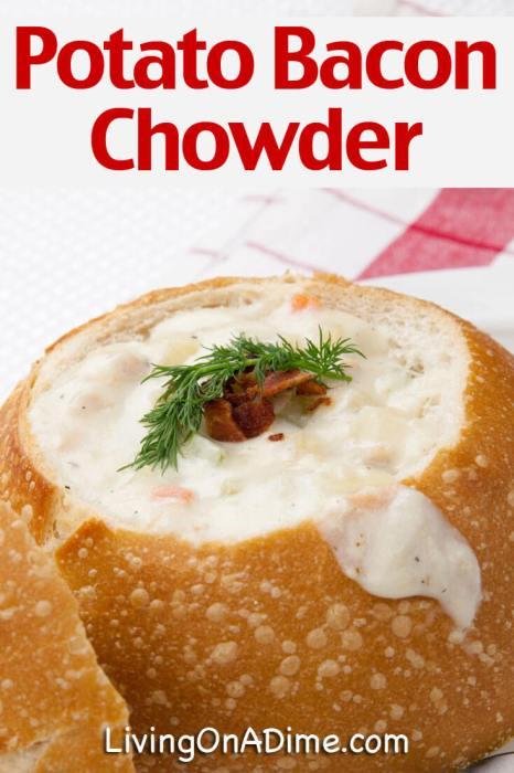 Potato Bacon Chowder Soup Recipe