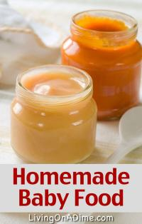 How To Make Easy Homemade Baby Food - Recipes And Ideas