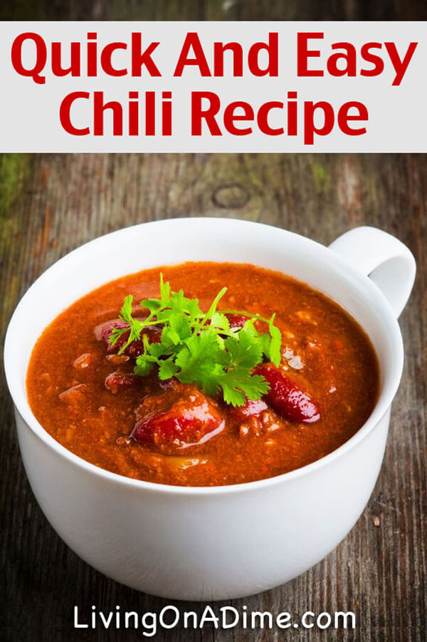 Quick and Easy Chili Recipe  Easy Meal For Busy Days