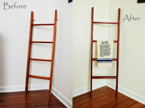 Living on Saltwater - Ladder Refurbish - Chalk Paint - Primer Red - Dark Wax