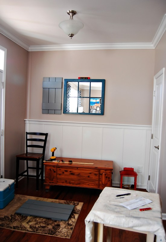 Living on Saltwater - Board and Batten - Shutters - Window Sash Mirror