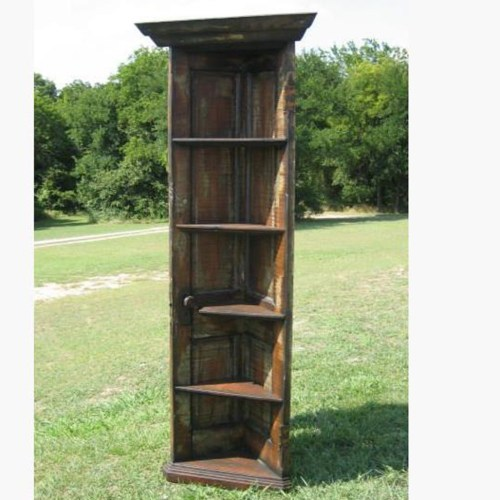 Living on Saltwater - Repurposed Wooden Door - Corner Bookcase