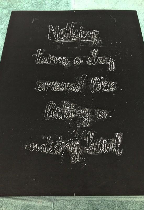 Living on Saltwater - Chalkboard Art
