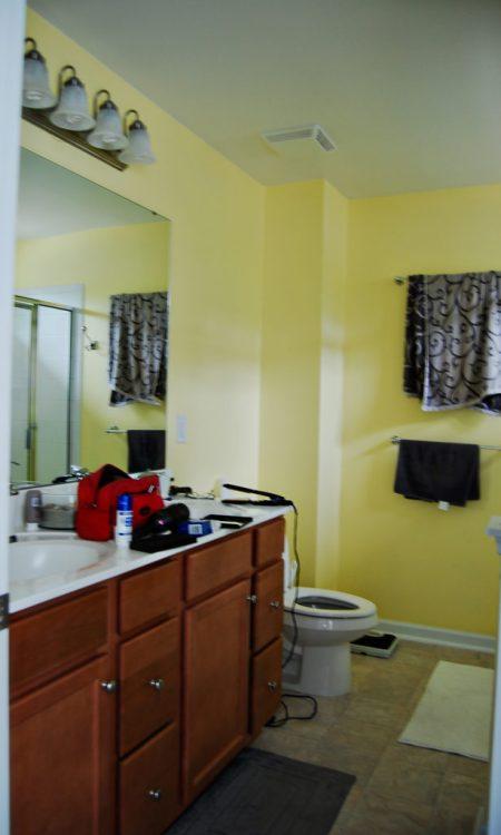 Living on Saltwater - Master Bathroom Before