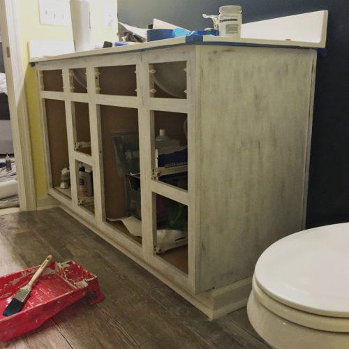 Living on Saltwater - Nautical Master Bathroom Makeover - Painted Vanity