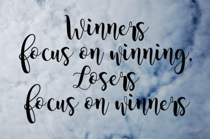 Living on Saltwater - Winners Focus on Winning, Losers Focus on Winners