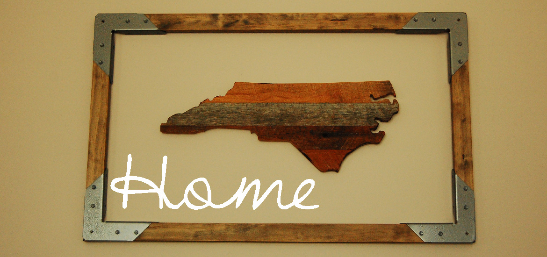 Living on Saltwater - Reclaimed Wood - Rustic Frame