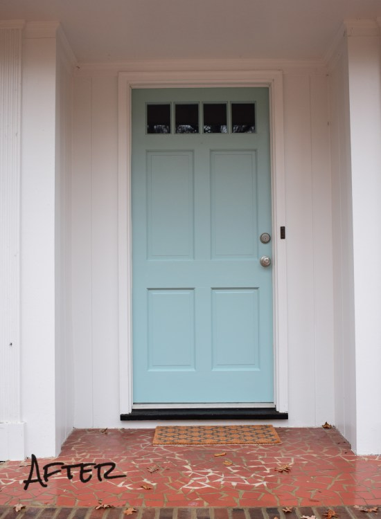 Living on Saltwater - Front Door - Sherwin Williams - Worn Torquroise