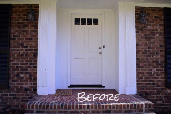 Living on Saltwater - Front Door Before