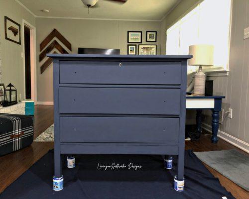 Living on Saltwater - Bone Inlay Stencil Dresser