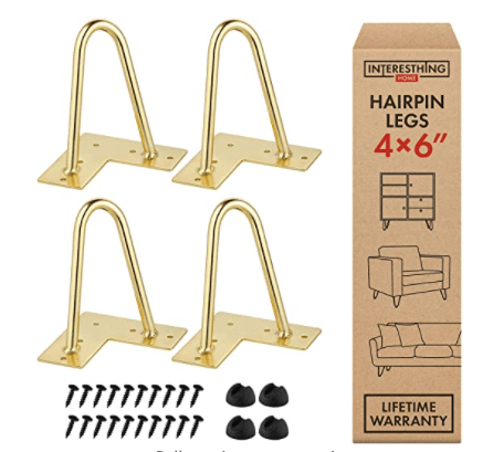 Hairpin Legs used to refinish furniture by Living on Saltwater