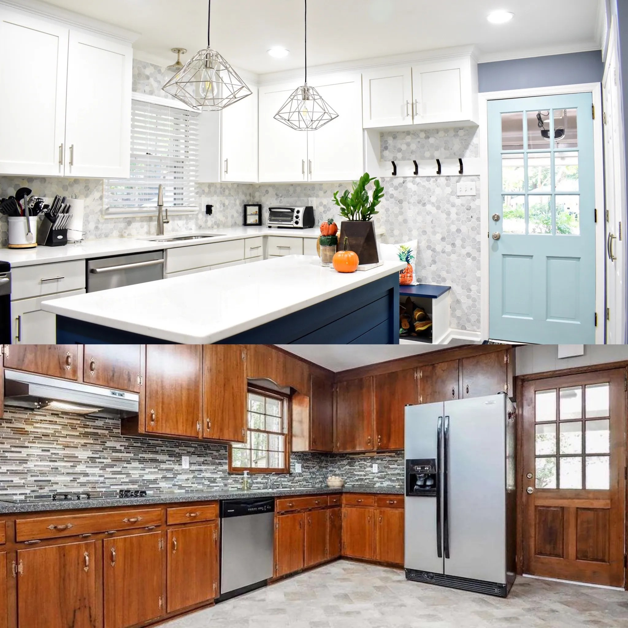 Kitchen Cabinet Makeover - Paint Kitchen Cabinets - Cabinet Remodel