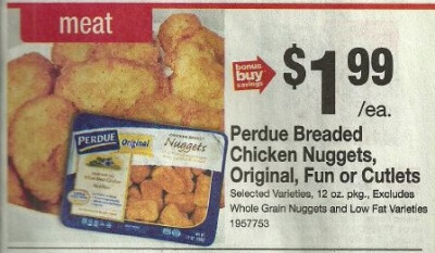 Perdue Breaded Chicken Only 049 at Stop Shop! 828