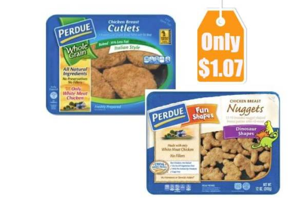Perdue Breaded Chicken Nuggets Cutlets Only 107 at