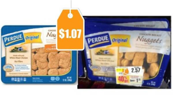 Perdue Breaded Chicken Nuggets Cutlets Just 107 at