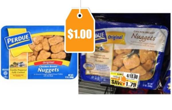Perdue Breaded Chicken Nuggets Cutlets Just 100 at