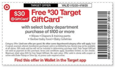 Some offers mentioned below are no longer available. Get A 30 Target Gift Card When You Spend 100 Or More On Baby Essentials Includes Huge Packs Of Diapers Living Rich With Coupons